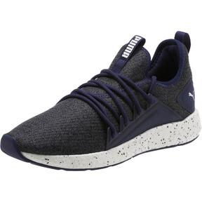 Thumbnail 1 of NRGY Neko Knit Speckle Men's Running Shoes, Peacoat-Puma White, medium