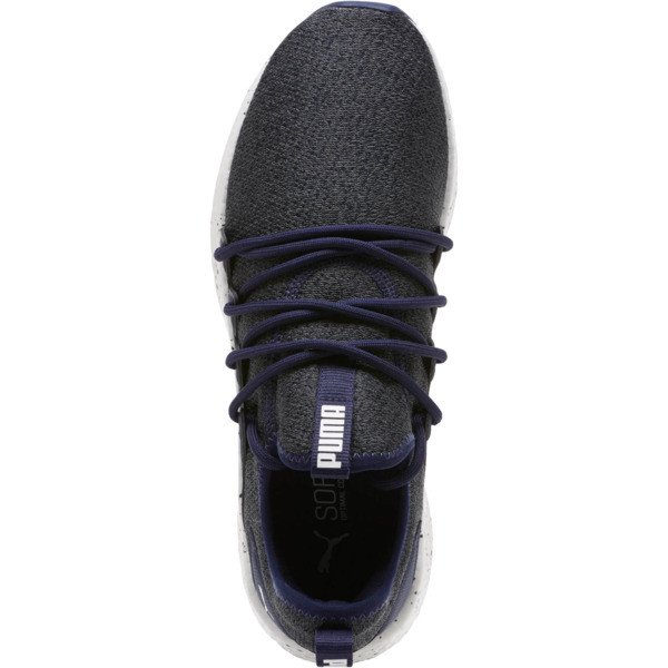 NRGY Neko Knit Speckle Men's Running Shoes, Peacoat-Puma White, large