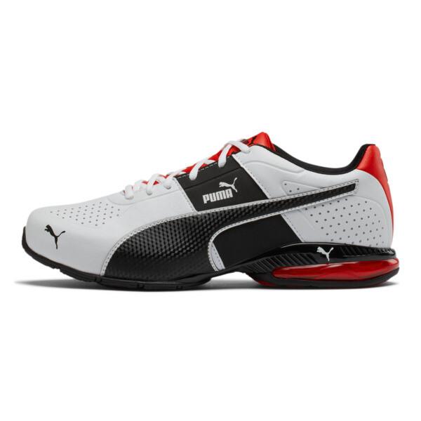 Cell Surin 2 Wide Men's Training Shoes, Pma Wht-Pma Blk-Flme Scarlet, large