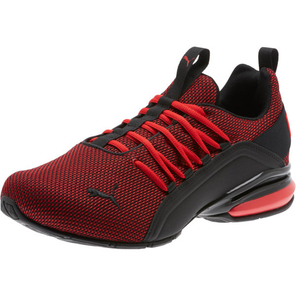 Axelion Mesh Wide Men's Training Shoes, High Risk Red-Puma Black, large