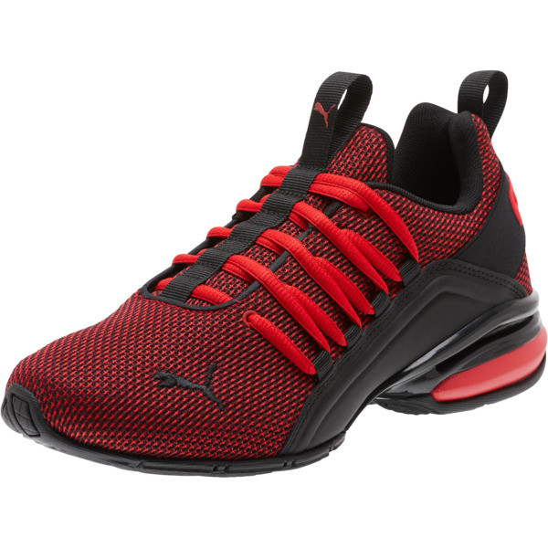 Axelion NM Training Shoes JR, High Risk Red-Puma Black, large