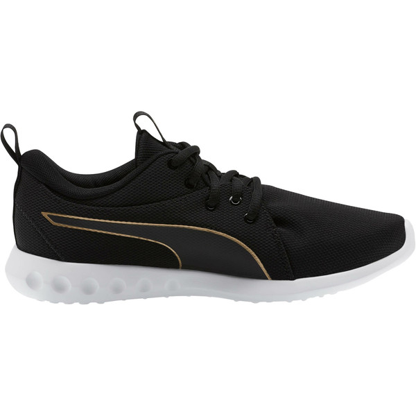 Carson 2 Cosmo Women's Running Shoes, Puma Black-Metallic Gold, large