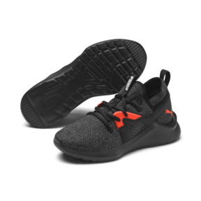Thumbnail 2 of Emergence Sneakers JR, Puma Black-Cherry Tomato, medium
