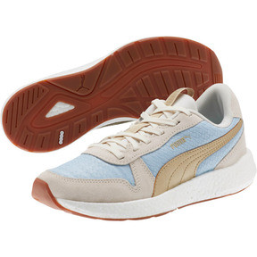 Thumbnail 2 of NRGY Neko Retro Sweet Women's Street Running Shoes, Light Sky- White- Gold, medium