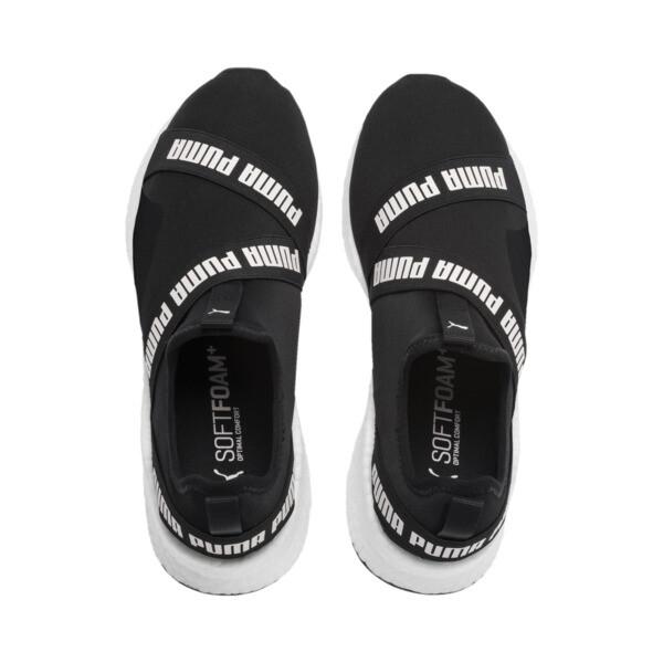 NRGY Star Slip-On Running Shoes, Black-Pearl-White, large