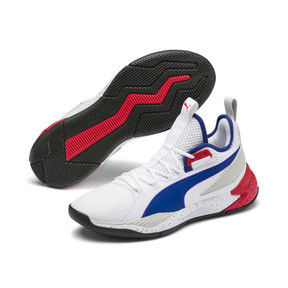 Thumbnail 2 of Uproar Palace Guard Herren Basketballschuhe, Puma White-Surf The Web, medium