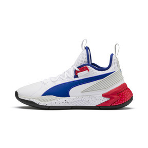 Thumbnail 1 of Uproar Palace Guard Basketball Shoes, Puma White-Surf The Web, medium