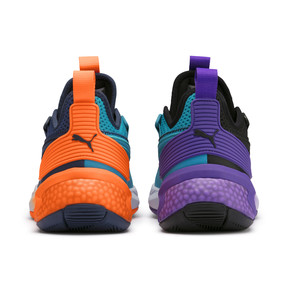 Thumbnail 3 of Uproar Charlotte Basketball Shoes, Orange- PURPLE, medium