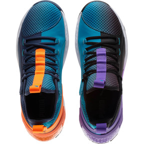 Thumbnail 8 of Uproar Charlotte ASG Fade Basketball Shoes, Orange- PURPLE, medium