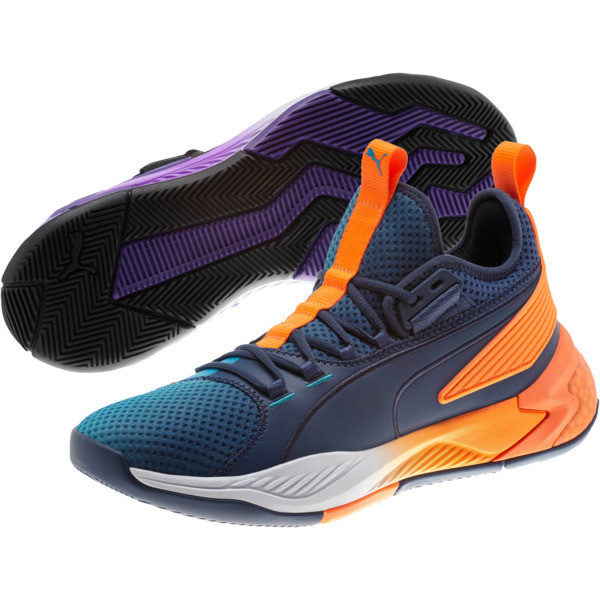 Uproar Charlotte ASG Fade Basketball Shoes, Orange- PURPLE, large