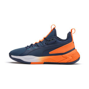 Thumbnail 1 of Uproar Charlotte Basketball Shoes, Orange- PURPLE, medium
