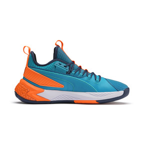 Thumbnail 5 of Uproar Charlotte Basketball Shoes, Orange- PURPLE, medium