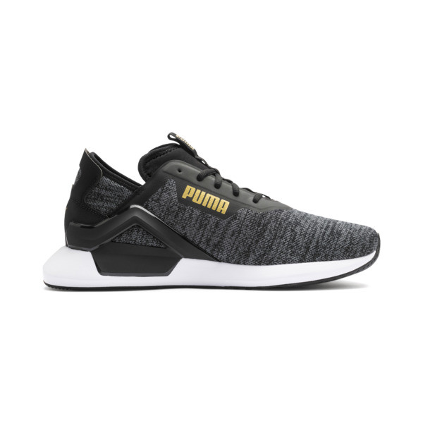 Rogue X Knit Men's Training Shoes, Black-CASTLEROCK-Gold, large