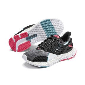 Thumbnail 3 of HYBRID Astro Women's Running Shoes, Puma Black-Pink Alert, medium