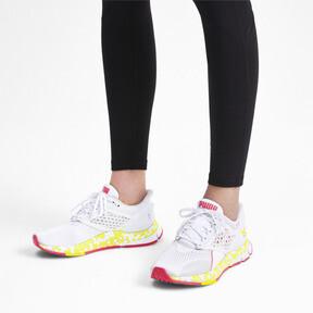 Thumbnail 2 of HYBRID NETFIT Astro Women's Running Shoes, White-Yellow Alert-Pnk Alert, medium