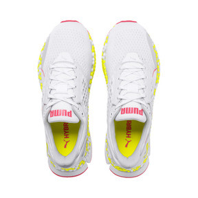 Miniatura 7 de Zapatos para correr HYBRID Astro para mujer, White-Yellow Alert-Pnk Alert, mediano