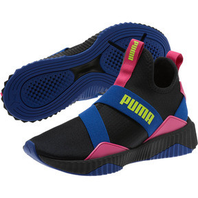 Thumbnail 2 of Defy Mid 90s Women's Sneakers, Puma Black-Surf The Web, medium
