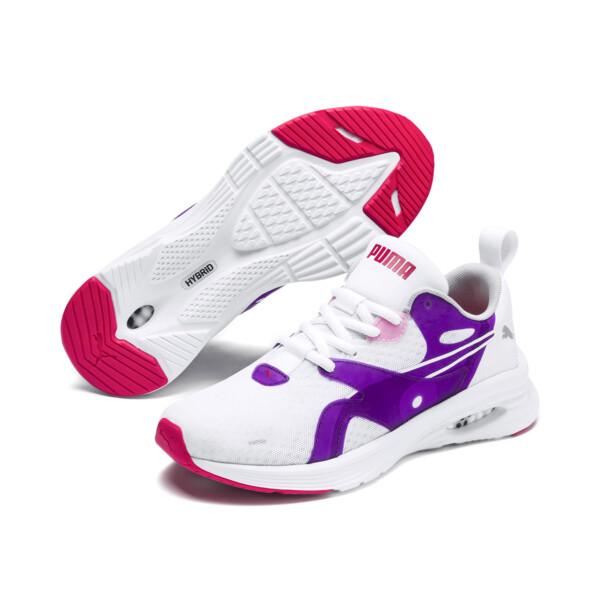 HYBRID Fuego Running Shoes JR, Puma White-Royal Lilac, large