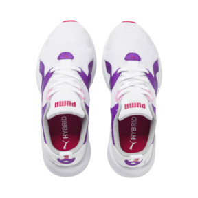 Thumbnail 6 of HYBRID Fuego Running Shoes JR, Puma White-Royal Lilac, medium