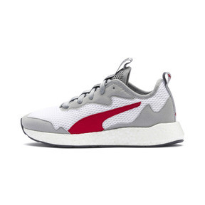 Thumbnail 1 of NRGY Neko Skim Running Shoes JR, White-H Rise-CASTLEROCK-Red, medium