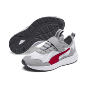 Thumbnail 2 of NRGY Neko Skim AC Shoes PS, White-H Rise-CASTLEROCK-Red, medium