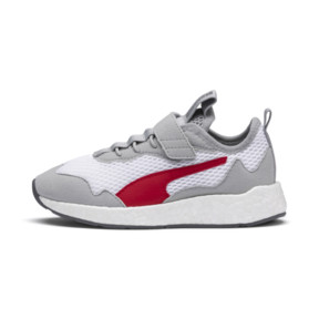Thumbnail 1 of NRGY Neko Skim AC Shoes PS, White-H Rise-CASTLEROCK-Red, medium