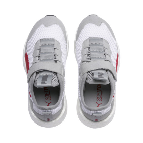 NRGY Neko Skim AC Shoes PS, White-H Rise-CASTLEROCK-Red, large