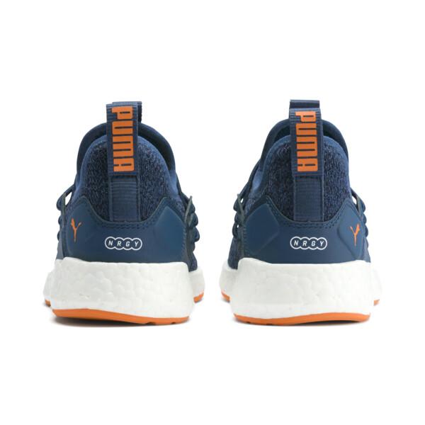 NRGY Neko Knit Shoes PS, G Sea-Peacoat-J Orange-White, large