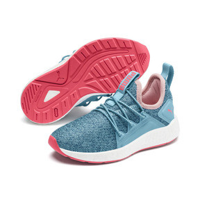 Thumbnail 2 of NRGY Neko Knit Little Kids' Shoes, M Blue-Bluestone-C Coral-Wht, medium