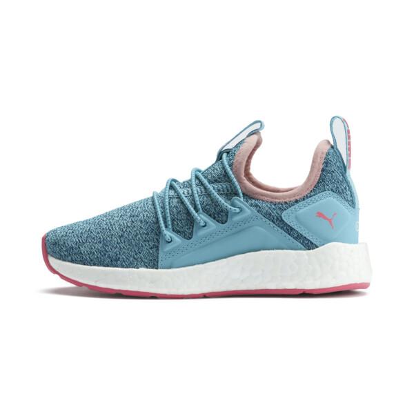 NRGY Neko Knit Little Kids' Shoes, M Blue-Bluestone-C Coral-Wht, large