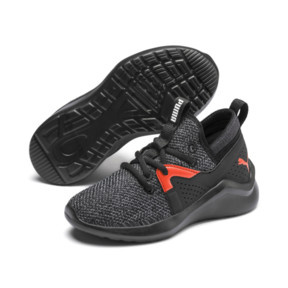 Thumbnail 2 of Emergence Little Kids' Shoes, Puma Black-Cherry Tomato, medium