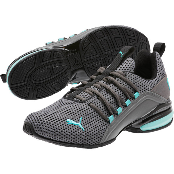 Axelion Breathe Men's Training Shoes, P Black-CASTLEROCK-Blue Turq, large