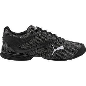 Thumbnail 4 of Tazon 6 Camo Mesh Sneakers, Puma Black-Puma White, medium