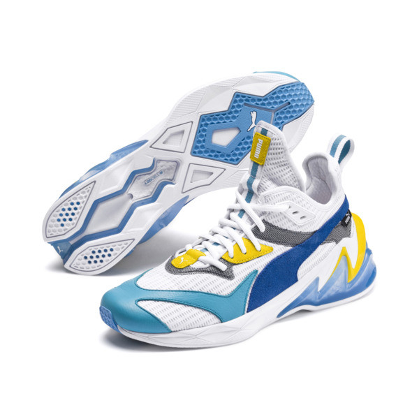 LQDCELL Origin Men's Training Shoes, Puma White-B Blue-Blz Yellow, large