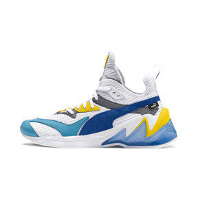 Thumbnail 1 of LQDCELL オリジン, Puma White-B Blue-Blz Yellow, medium-JPN