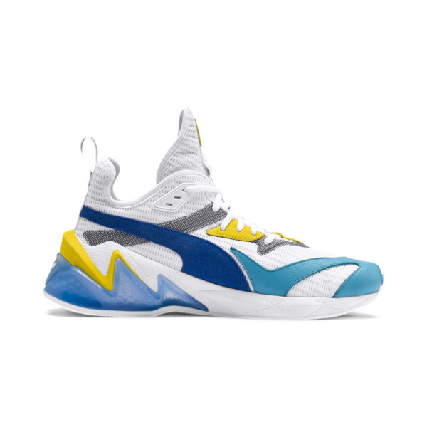 LQDCELL Origin Men's Shoes, Puma White-B Blue-Blz Yellow, large
