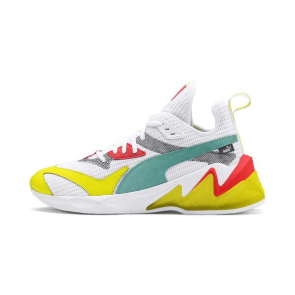 LQDCELL Origin Men's Shoes, Puma White-Yellow Alert, large