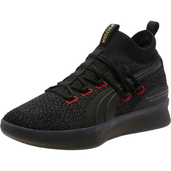 Clyde Court Reform Basketball Shoes, Puma Black, large