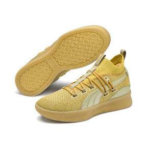 Thumbnail 2 of Clyde Court Title Run Men's Basketball Shoes, Metallic Gold, medium