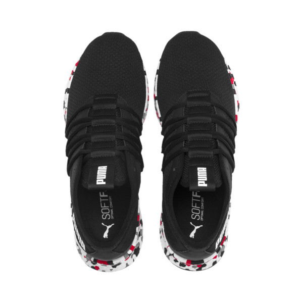 NRGY Star Multi Running Shoes, Black-White-Red, large