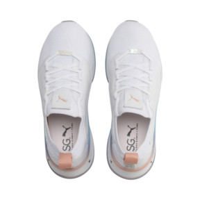 Thumbnail 7 of PUMA x SELENA GOMEZ Runner Women's Training Shoes, Puma White-Peach Bud, medium