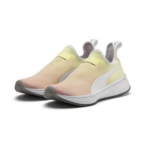 Anteprima 3 di PUMA x SELENA GOMEZ Slip-On Gradient Women's Training Shoes, YELLOW-Peach Bud-White, medio