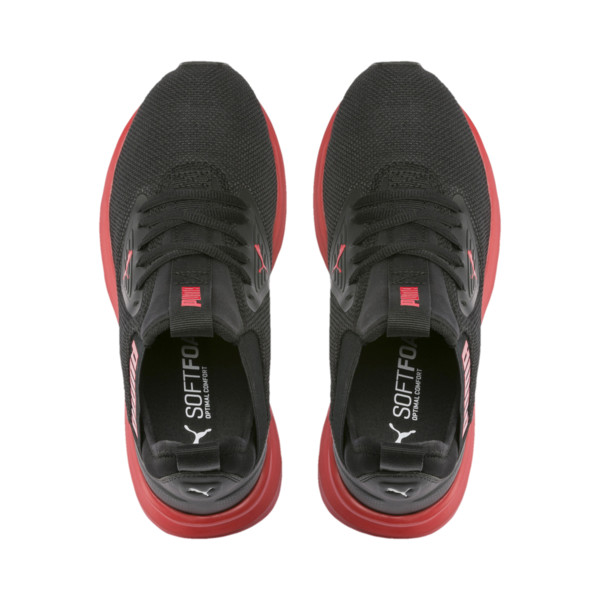 Enzo Beta Sneakers JR, Puma Black-High Risk Red, large
