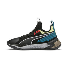 Thumbnail 1 of Chaussure de basket Uproar Spectra, Puma Black-Limelight, medium
