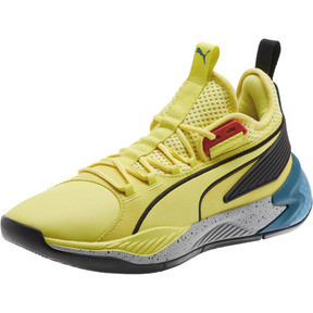 Thumbnail 1 of Uproar Spectra Basketball Shoes, Limelight- Black- White, medium