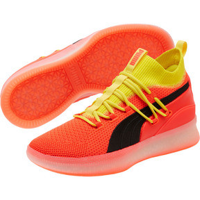 Thumbnail 2 of Clyde Court Basketball Shoes JR, Red Blast, medium