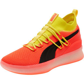 Thumbnail 1 of Clyde Court Basketball Shoes JR, Red Blast, medium