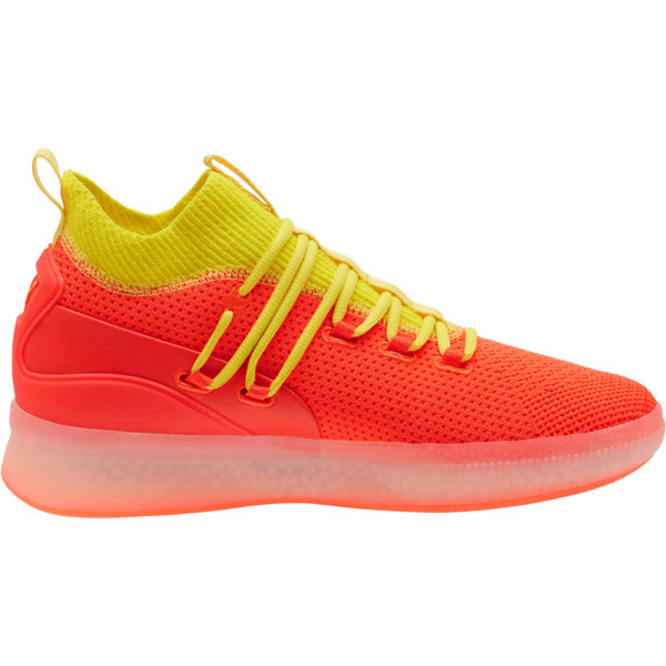 Clyde Court Basketball Shoes JR, Red Blast, large