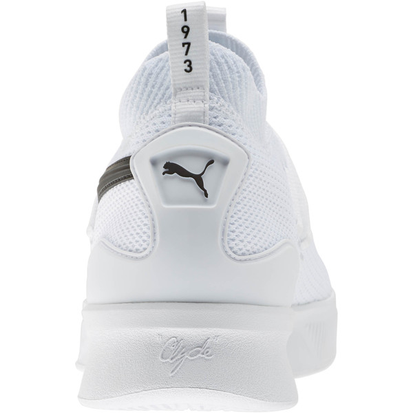 Souliers Clyde Court Basketball, enfant, Blanc Puma, grand