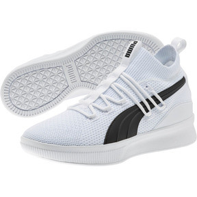 Thumbnail 2 of Clyde Court Basketball Shoes JR, Puma White, medium